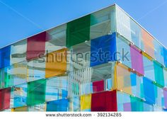 Architecture detail of the new Malaga Pop-Up museum, it is housed in the large glass cube situated at the newly renovated port Malaga Spain, Glass Cube, Places In Europe, Spain Travel, Architecture Details, Pop Up, Centre, Photo Editing, Royalty Free Stock Photos