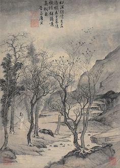 明 唐寅 松溪访隐图 by China Online Museum - Chinese Art Galleries, via Flickr