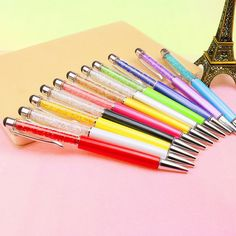 Crystal Diamond Ballpoint Pen Gift With Touch Screen Ipone Ipad 7S For Students School Office Korean Stationery Store