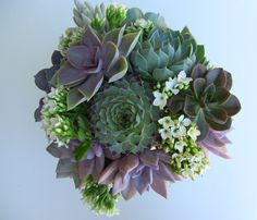 Succulent Wedding Bouquet by SucculentlyUrban on Etsy