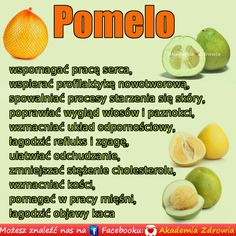 Korzyści zdrowotne pomelo • ZdrowePoradniki.pl Health Eating, Health Diet, Health Fitness, Healthy Style, Healthy Tips, Nutrition Tips, Superfoods, Healthy Lifestyle, Food And Drink