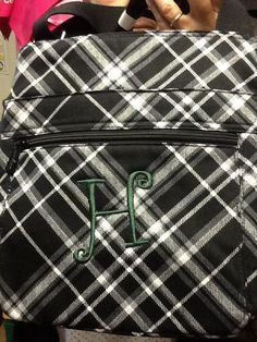Organizing Shoulder Bag Black Pick Me Plaid 93