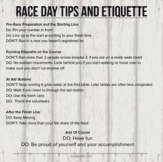 Be ready to act like a pro on race day, even if you are a total newbie. Read the full post on my blog