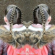 Cute dutchbraid pigtails