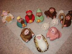 marzipan nativity | nativity figures the fondant figures for a nativity cake i will be ...