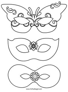 Maschere di Carnevale da ritagliare - TuttoDisegni.com Diy And Crafts, Crafts For Kids, Arts And Crafts, Paper Crafts, Mardi Gras, Theme Carnaval, Mask For Kids, Halloween Themes, Preschool Crafts