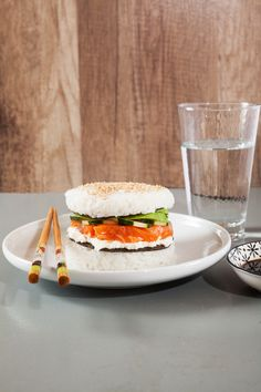 A sushi-burger, for the most curious ones! #Food #Burger #Sushi