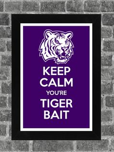 I'm over all of the Keep Calm but this one was too cute to resist - - LSU TIGERS - LSU TIGERS colors purple & gold - Louisiana State University