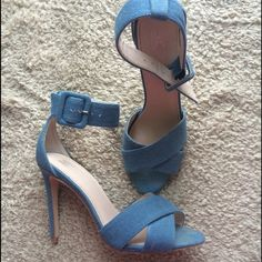 Victoria's Secret Jean print heeled sandals! Beautiful Jean print heeled sandals from Victoria's Secret. These are super cute and have minimal wear. No trades, no PayPal  Victoria's Secret Shoes Heels