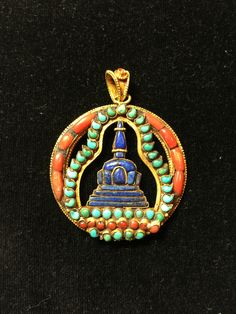Turquoise, coral and lapis lazuli inlaid Coral Jewelry, Tribal Jewelry, Indian Jewelry, Lapis Lazuli Jewelry, Tibetan Jewelry, Nepal, Tibetan Art, Buddhist Art, Asian Art