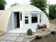 White Monolithic Dome Homes