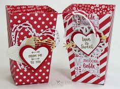 Popcorn Boxes with the Popcorn Box Thinlets Dies and the Brights Designer Series Paper Stacks Real Red paper