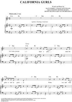 California Gurls Sheet Music: www.onlinesheetmusic.com