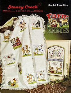 "counted cross stitch wildlife patterns   ... CREEK ""Farm Babies"" Counted Cross Stitch Pattern Book - BABY ANIMALS"