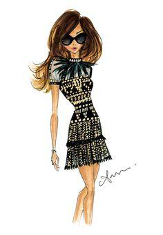 Fashion Illustration Print Valentino by anumt on Etsy