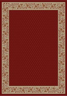 Gem Harmony Red Area Rug