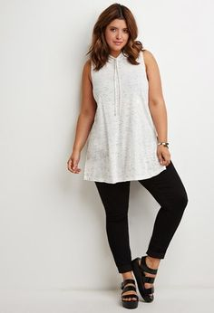 Plus Size Heathered Longline Jacket Plus Size Fashion