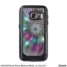 Colorful Flower Power Abstract Modern Fractal Art OtterBox Samsung Galaxy S7 Case