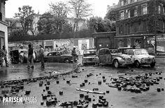Evénements de mai-juin 1968. Manifestation dans le quartier de la Sorbonne. Paris, 10-11 mai 1968.