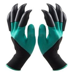 Garden Tools 1 Pair Garden Digging Gloves With 4 Right Hand Fingertips Sharp+fork Claws Making Things Convenient For The People