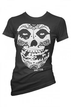 Misfits day of the dead inspired shirt