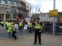 Scottish Defence League and Unite Against Fascism stage Edinburgh rallies Far-right group and anti-fascists clash