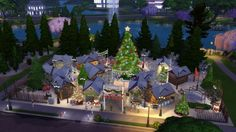 Lotes The Sims 4, Sims Cc, Building Ideas, Minecraft, House Design, Mansions, House Styles, Holiday, Decor