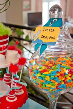 Dr Suess--if I ever have kids, they're getting a Dr. Suess party!!!