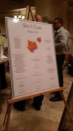 Seating Chart .... amazing addition to your dinner reception.  www.creatingpapermemories.com