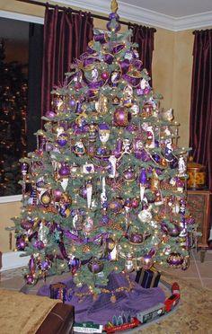Purple Christmas tree ornaments