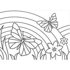 Butterfly And Rainbow Coloring Pages from Animal Coloring Pages category. Printable coloring pages for kids that you can print out and color. Have a look at our series and print out the coloring pages for free. Butterfly Coloring Page, Flower Coloring Pages, Mandala Coloring Pages, Animal Coloring Pages, Coloring Book Pages, Printable Coloring Pages, Preschool Coloring Pages, Halloween Coloring Pages, Coloring Pages For Girls