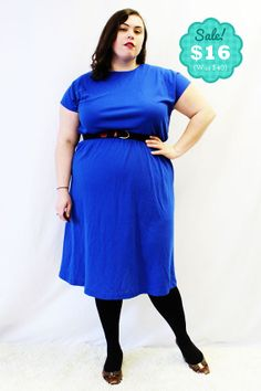 CLEARANCE  Plus Size  Vintage Royal Blue Knit by TheCurvyElle, $16.00