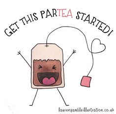 Puns are tea-riffic, aren't they? Grab a cup of your favorite tea blend, and think up some of your own clever tea puns. Cute Puns, Funny Puns, Tea Quotes Funny, Tea Time Quotes, Morning Quotes, Funny Humor, Cute Cards, Diy Cards, Coffee Blog