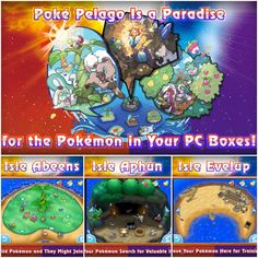 Feel Guilty No More: 'Pokemon' 'Sun' and 'Moon' Ends PC Asylum — creators.co  Ever feel bad about depositing hundreds of Pokémon in the PC and never using them? Do not fret! Introducing the Poke Pelago where Pokemon Sun and Moon will allow for your Pokémon to play, grow, and live in paradise
