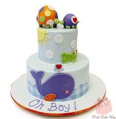 """Oh Boy!"" Baby Shower Cake 