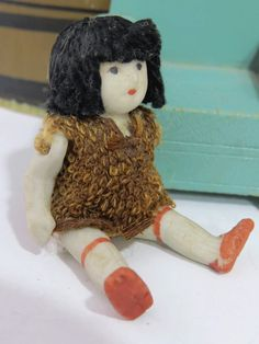 Vintage Asian Girl Bisque Doll, Thread Hair, RARE, 1930s, Made in Japan, Jointed/Articulated, Original Clothes by UrbanRenewalDesigns on Etsy