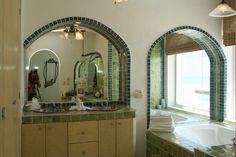 2nd floor master bathroom in Casa Sarita.