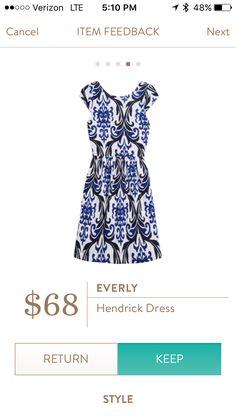 Everly Hendrick Dress. Classic shape, striking print.
