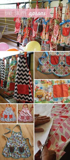 BakeShoppeAprons - girl apron and boy apron patterns