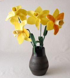 Flores de Feltro para Arranjos Passo a Passo
