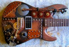 Image Gallery: Steampunk Guitars - Guitar-Muse.com