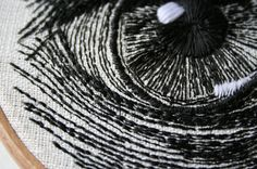 In her ongoing series of stitched illustration and textile art, Sam P Gibson painstakingly hand-embroiders the most stunning threaded eyes, so they look as though they have been drawn onto a sheet of paper...