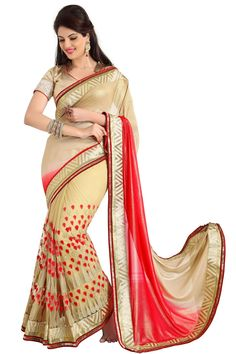 #Buy #Fashiondiva #Cream #Embroidery Color #Saree From #Hypnotex