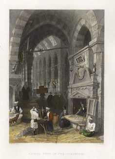 Turkey, Istanbul, Kaimac Shop in the Tchartchi, 1838
