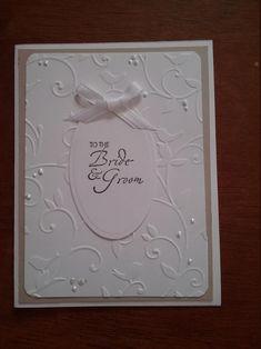 Homemade Wedding Cards, Wedding Cards Handmade, Homemade Cards, Wedding Shower Cards, Card Wedding, Simple Wedding Cards, Wedding Anniversary Cards, Happy Anniversary, Handmade Anniversary Cards