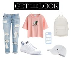 """""""Untitled #4"""" by vit1017 on Polyvore featuring WithChic, adidas, PB 0110, NIKE, GetTheLook and airportstyle"""