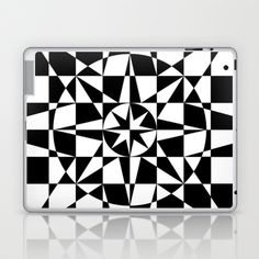 Black & White Star Laptop & iPad Skin by V. Kharuzhy