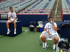 Rafa Nadal · 1 August 2013  Primer entrenamiento en #Montreal con mi amigo Richy!!  First practice in #Montreal with my friend Richy!!