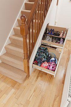 Under Stairs Storage Unit Shoe Stairway E