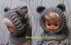 Детский снуд-капюшон с ушками крючком Crochet Hooded Bear Cowl